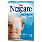 Nexcare™ Sensitive Skin Regular Orthoptic Eyepatch, White, 3.15 in x 2.16 in oval