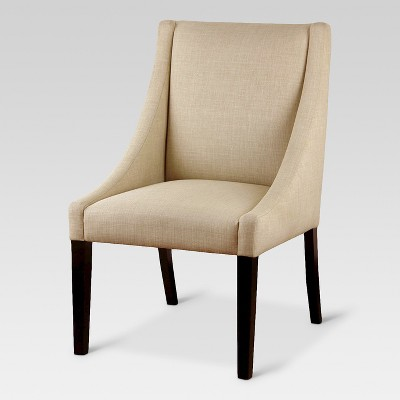 Upholstered Swoop Arm Chair Beige - Threshold™
