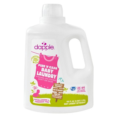 Dapple 2x Baby Laundry Detergent, Fragrance Free (64 Load) - 100oz