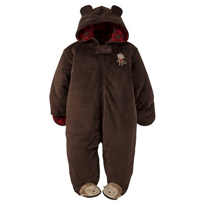 Just One You™ by Carter® Infant Boys' Monkey Wearable Blanket - Ash Brown 3M