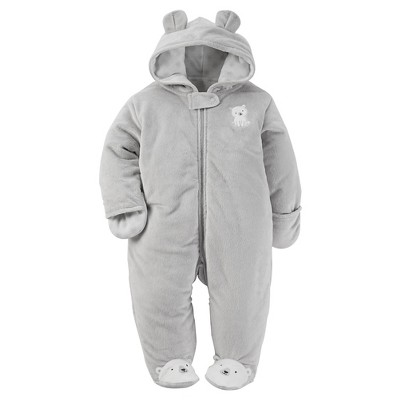 Just One You™ by Carter® Infant Boys' Dog Footed Sleepers - Whitecap Grey 3M