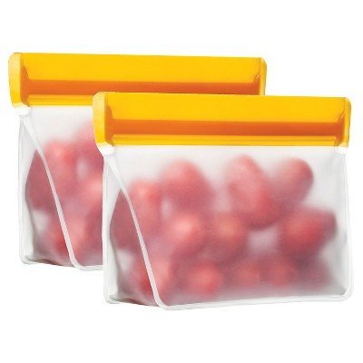 Blue Avocado Reusable Food Storage Bag - 1 cup (2 pack)