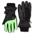 Boys' C9 Champion® Fleece Lined Gloves - Black/Green