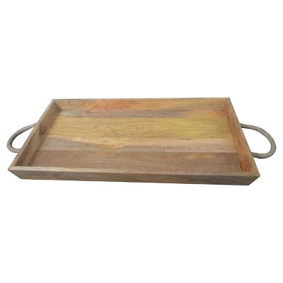 Wood Tray with Rope Handles - Threshold™
