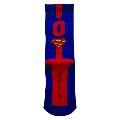 DC Comics™ Superman Boys' Athletic Crew Socks Royal Blue/Red 0 M