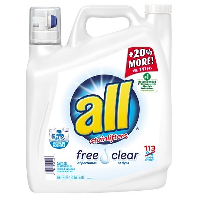 all Free Clear HE Liquid Detergent, 169.5oz