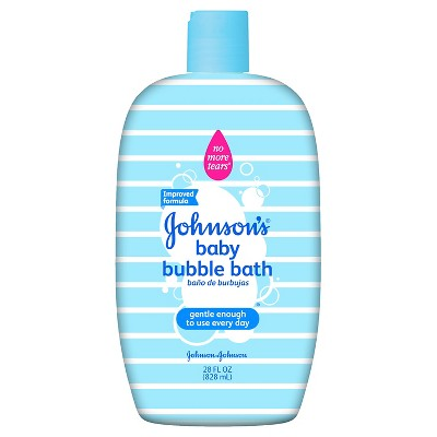 Johnson & Johnson® Baby Bubble Bath & Wash - 28oz Designer Sleeve
