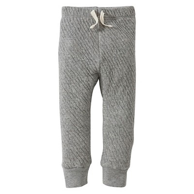 Burt's Bees Baby™ Boys' Organic Quilted Pant - Heather Grey 12M
