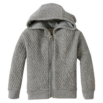 Burt's Bees Baby™ Boys' Organic Hooded Quilted Jacket - Heather Grey 12M