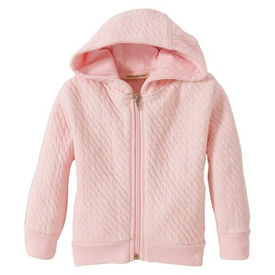 Burt's Bees Baby™ Girls' Organic Hooded Quilted Jacket - Blossom 12M