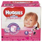 Huggies Little Movers Diaper Pants for Girls Size 6 (48 Count)