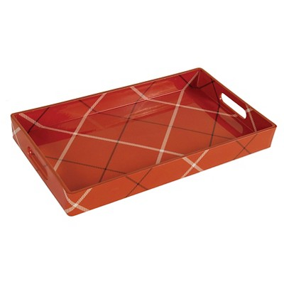 Threshold™ Medium Rectangle Tray - Red Plaid