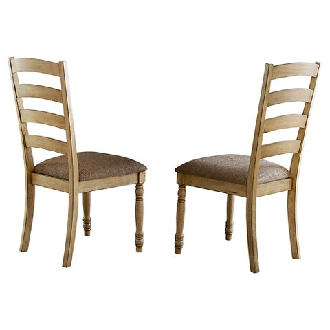 Olinville Side Chair Wood Cream Set of 2 Hom Tar