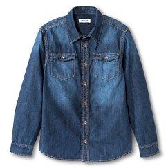 Boys' Button Down Denim Shirt - Cherokee®