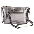 Cross Body Bags S&L GRY SOLID Zip Closure