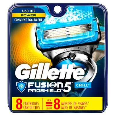 Gillette® Fusion® ProShield™ Chill™ Men's Razor Blade Refills - 8 ct