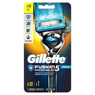Gillette® Fusion® ProShield™ Chill™ Men's Razor With FlexBall® Handle and 2 Razor Blade Refills - 2 ct