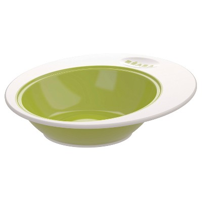 Beaba Baby Deep Ellipse Plate - Green
