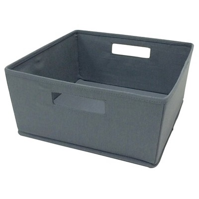 itso  Fabric Half Bin - Dark Grey