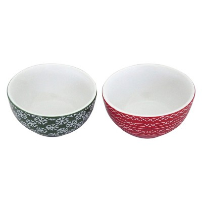 Threshold Mini Bowls - Green/Red (Set of 4)