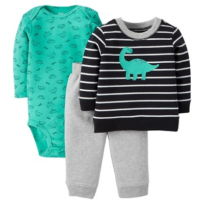 Just One You™Made by Carter's®  Newborn Boys' 3 Piece Set - Black/Teal 3M