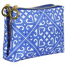 Contents Cosmetic Bag Moroccan Bleu Double Zip Purse Kit