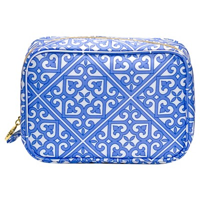 Contents Cosmetic Bag Moroccan Bleu Square Organizer