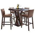 5 Piece Whitney Bar Height Dining Table Set Wood/Chocolate - Steve Silver Company