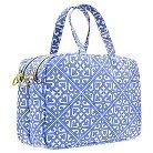 Contents Cosmetic Bag Moroccan Bleu Double Zip Weekender