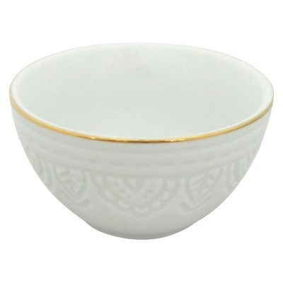 Threshold™ 1 piece S mini bowl with gold rim