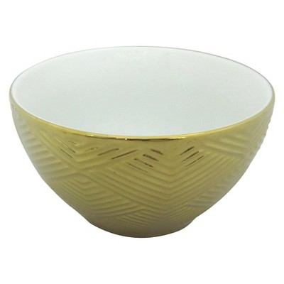 Threshold™ 1 piece L mini bowl with gold electroplating