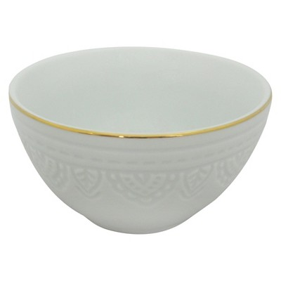 Threshold™ 1 piece L mini bowl with gold rim