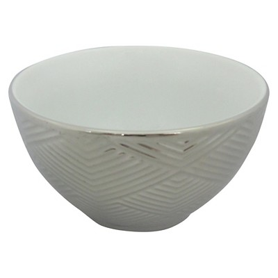 Threshold™ 1 piece L mini bowl with silver electroplating