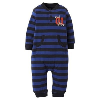 Just One You™Made by Carter's®  Newborn Boys' Blue Streak Bodysuit - Blue/Black 6M