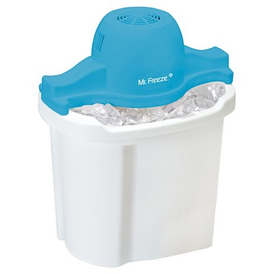 Mr. Freeze 4-Quart Electric Ice Cream Maker in White and Blue