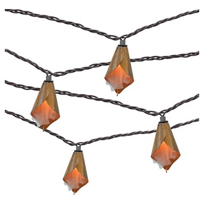 10ct Decorative String Lights- Metal Flower Cover - Threshold™