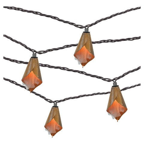 Metal Cap String Lights : 10ct Decorative String Lights- Metal Flower Cove... : Target