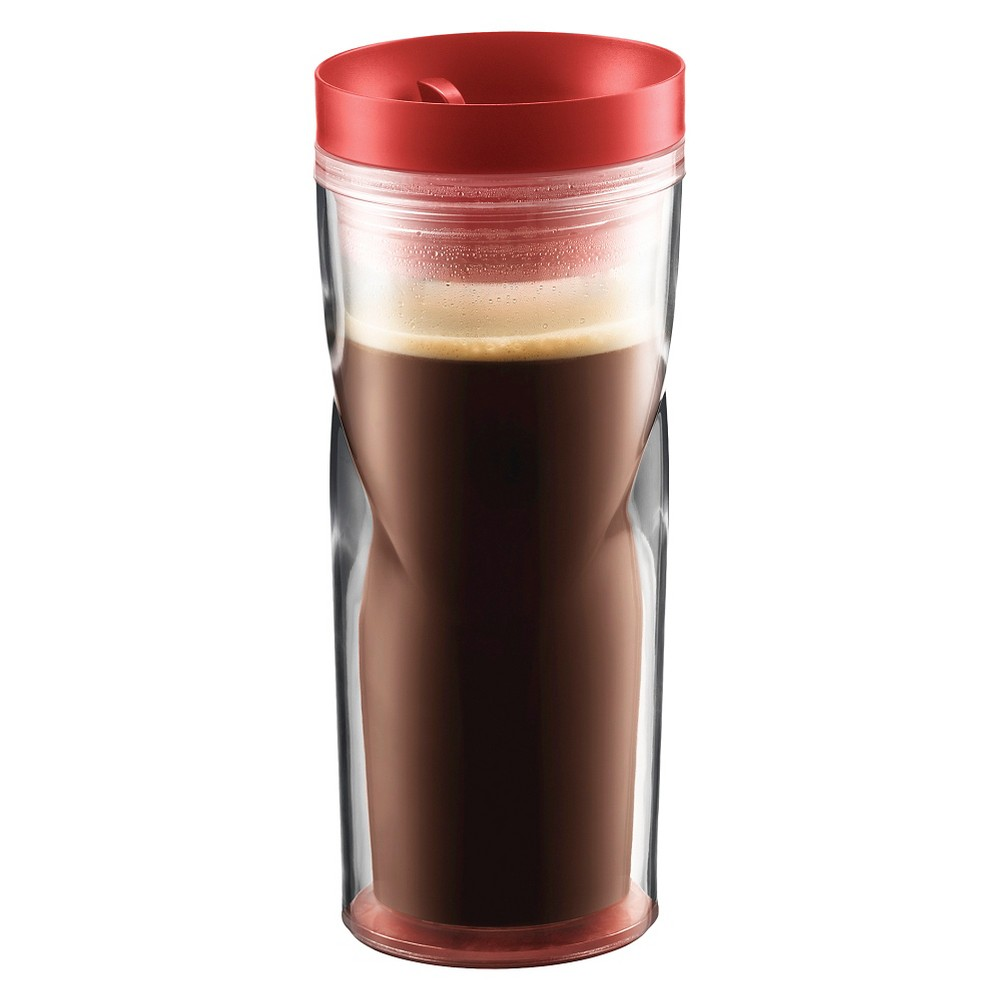 Bodum Travel Mug (15oz) -Red, Red