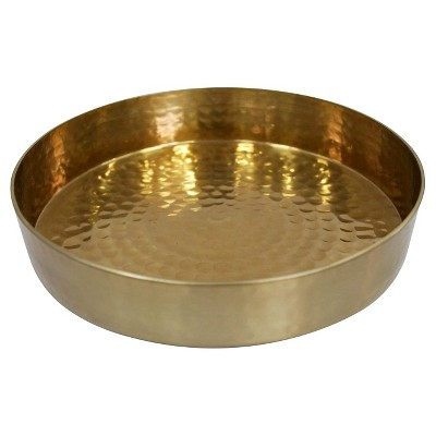 1 Pc Serving Tray Threshold Golden Aluminum