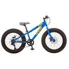 "Mongoose Boys Kong 20"" Fat Tire Bike- Blue/Yellow"