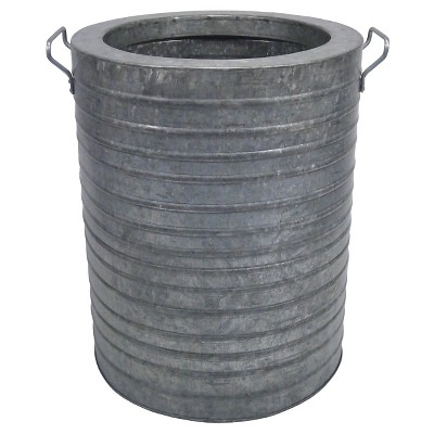 "Ribbed Galvanized Round Planter 21"" - Threshold™"