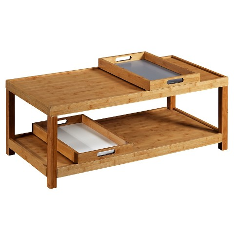 Coffee Table Wood White Light Grey TMS Product Details Page