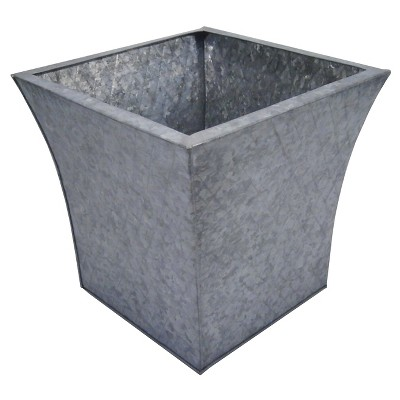 "Threshold™ Tapered Diamond Galvanized Planter - (14"")"