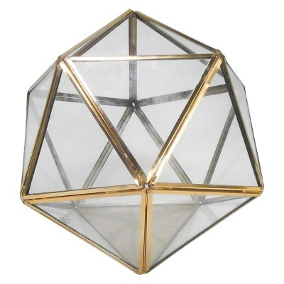 Threshold™ Gold Geometric Terrarium