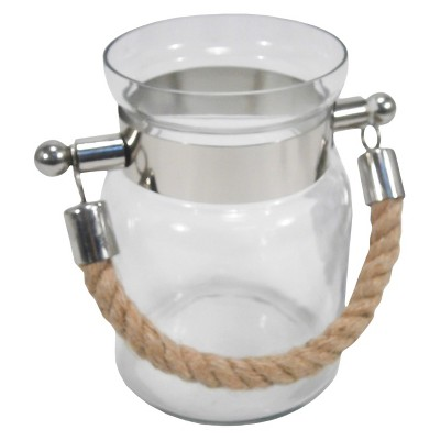 Glass Lantern with Rope Handle Small - Threshold™