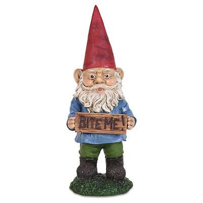 """Exhart Gnomes with Attitudes Bite Me - Multicolored  (13"""")"""