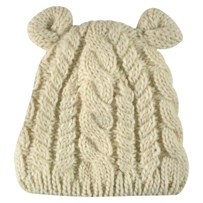 Newborn Boys' Beanie with Ears Oatmeal One Size- Cherokee™