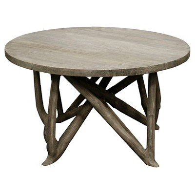 Coffee Table Washed Wood Grey - New Pacific Direct