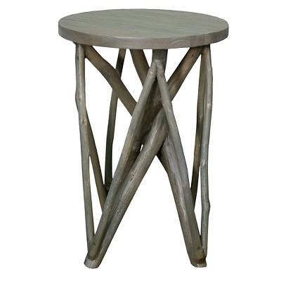 End Table Washed Wood Grey - New Pacific Direct