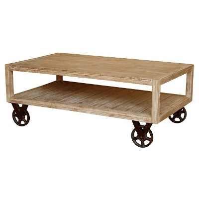 Coffee Table Washed Wood Brown - New Pacific Direct